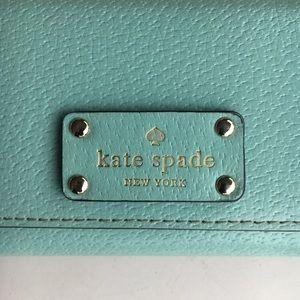 kate spade Bags - Kate Spade Coin Purse Wallet I.D. Light Blue Green